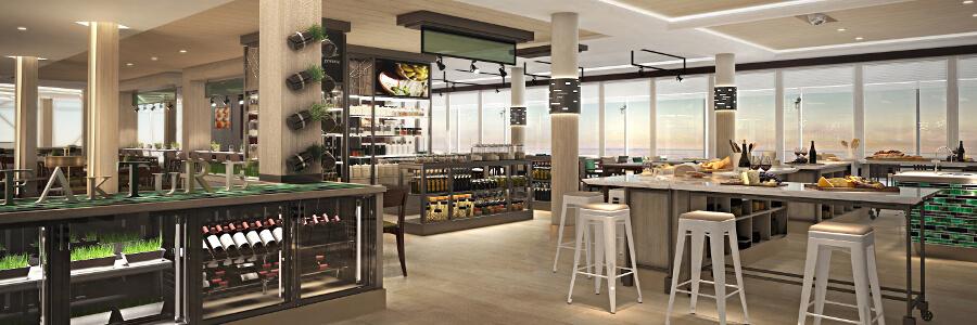 die restaurants und bistros der neuen mein schiff 1. Black Bedroom Furniture Sets. Home Design Ideas